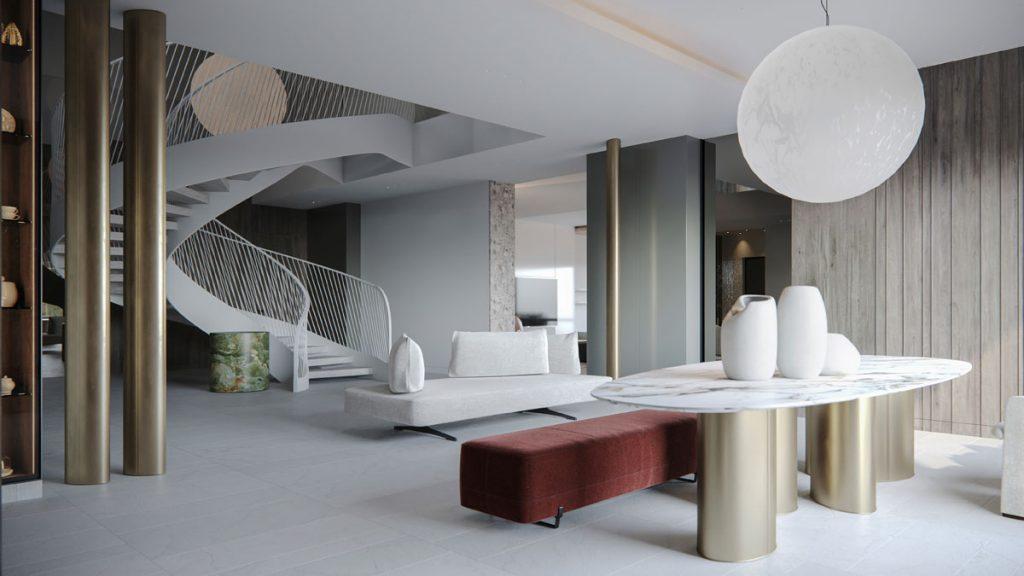 Modern Minimalist Residential Design Creates Calm Atmosphere
