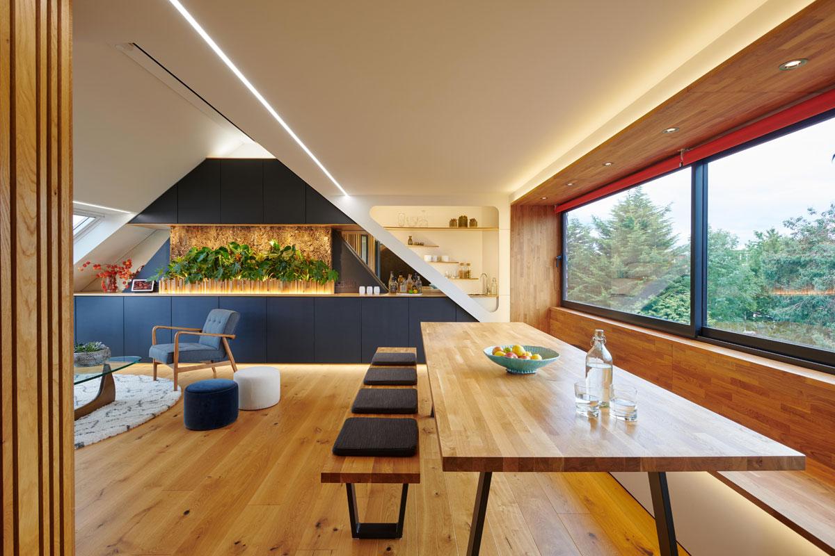 Loft Conversion Maximises Space with Modern-Retro Design
