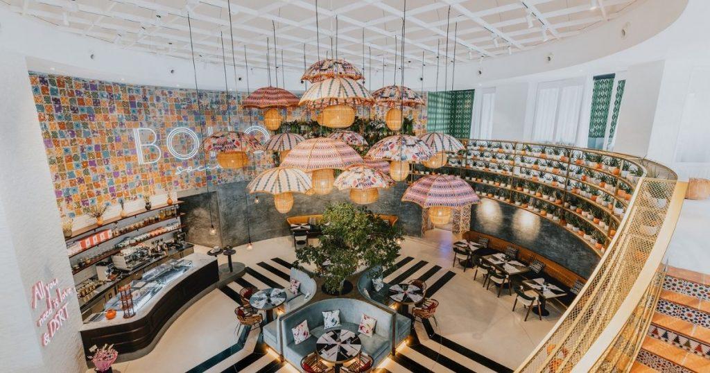 , Bohemian Restaurant Design Becomes Dynamic Social Destination