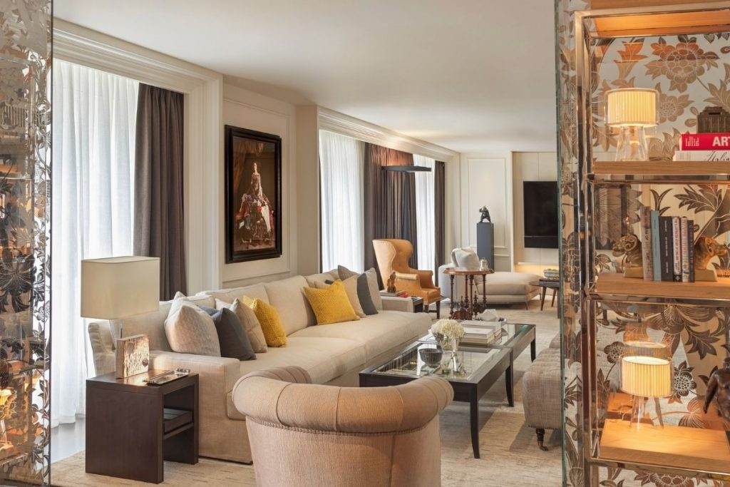 Hotel Suite Designed To Create Luxurious Residential Feel