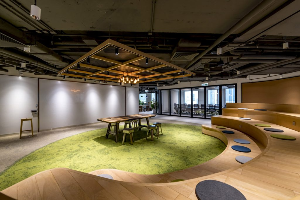 Open Plan Office Designed to Encourage Workplace Interaction