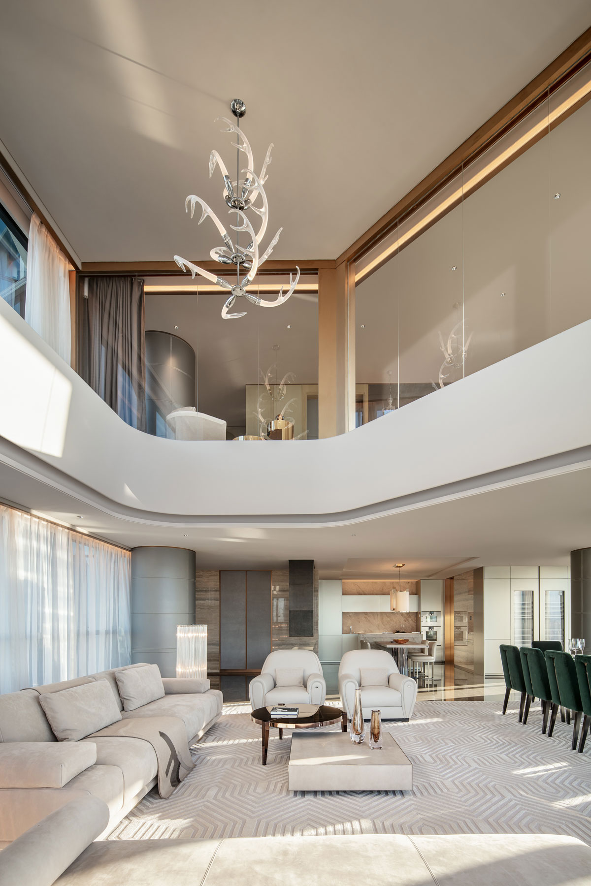 luxury apartment, Luxurious Apartment Brings The Classic Style of Rome To Beijing