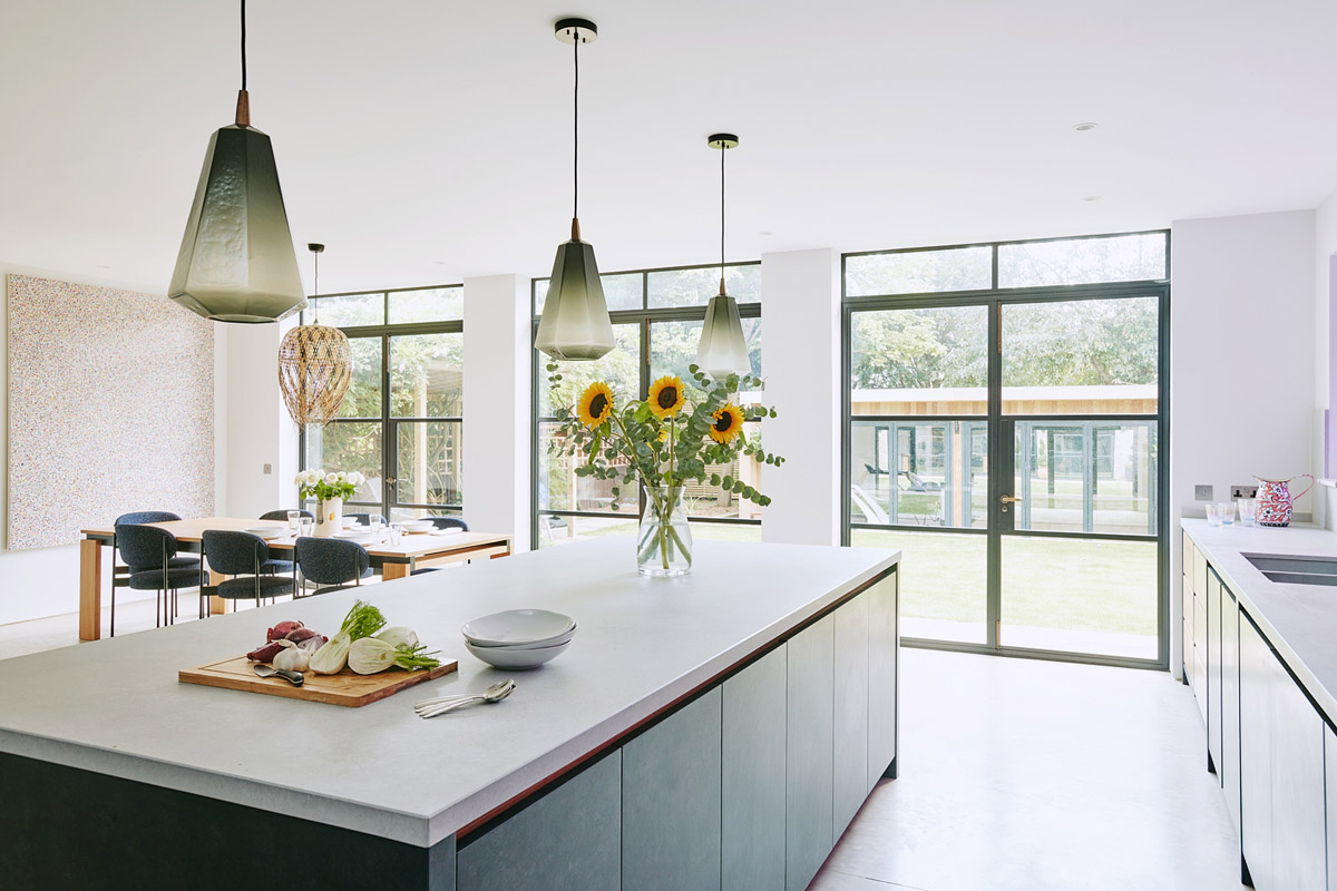contemporary bathrooms, Industrial and Artisanal Styles Combine in the New Wimbledon Kitchen